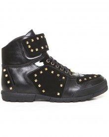 Leather Spike Hi Top Sneaker