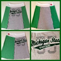 Rag Tag Gypsy Michigan State Upcycled T-skirt by RagTagGypsyShop