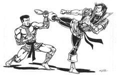 Karate Kid vs Bronze Tiger