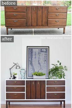 An all-of-a-sudden-modern credenza. #Restoration #bedroomfurnituremodern