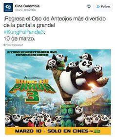 Esta vez Cine Colombia nos da una muestra de los errores que no podemos cometer. #KungFuPanda #CommunityManagers #Twitter