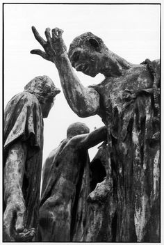 :  Henri Cartier-Bresson The Burghers of Calais by Auguste Rodin (Calais, France, 1976.)