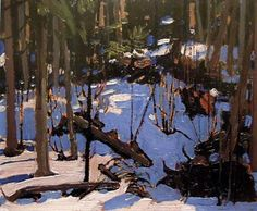 Tom Thomson, Winter in the Woods, 1916 The Group of Seven - Canada Group Of Seven Art, Group Of Seven Paintings, Paintings I Love, Tree Paintings, Emily Carr, Winter Landscape, Landscape Art, Landscape Paintings, Impressionist Landscape