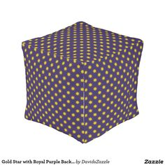 Gold Star with Royal Purple Background Cube Pouf Available on many products! Hit the 'available on' tab near the product description to see them all! Thanks for looking!   @zazzle #art #star #pattern #shop #chic #modern #style #circle #round #square #home #decor #pillow #fun #neat #cool #buy #sale #shopping #men #women #decorate #apartment #sweet #awesome #look #couch #accent #color #black #gold #navy #purple #orange #grey #yellow #gray #classic