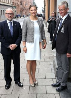 Princess Victoria attends a opening exhibition in Stockholm