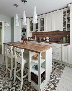 48 suprising small kitchen design ideas and decor 15 - Wohnen - Kitchen Ideas Cozy Kitchen, Home Decor Kitchen, Rustic Kitchen, Kitchen Interior, New Kitchen, Home Kitchens, Kitchen Island, Kitchen Ideas, 10x10 Kitchen