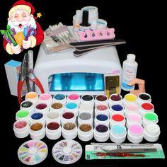 BTT-111 hot sell 36colors uv nail gel lamp tool set ,nail tools set kit ,kit nail gel set ,nail gel 36w uv lamp uv gel kit