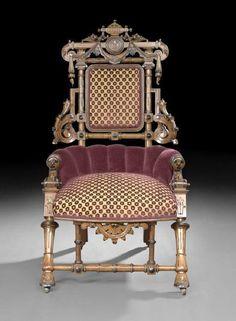 Renaissance Revival Side Chair, c1870, George Hunzinger, (1866-98),