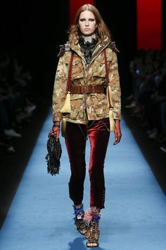 Dsquared² | Milan Fashion Week | Fall 2016    ... - welcome in the world of fashion Yes, velvet pants!!