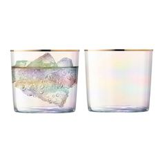 Add a touch of colour to your tableware with this set of two Sorbet tumblers from LSA International. Inspired by the delicate colours of sorbet, they are hand painted with an iridescent lustre and en
