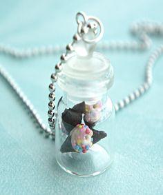 vanilla ice cream in a jar necklace