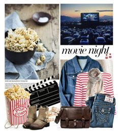 """""""Movie Night Popcorn"""" by leegal57 ❤ liked on Polyvore featuring Saint James, Love Quotes Scarves, True Religion, Zara, Rebecca de Ravenel and movieNight"""