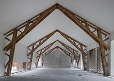 Century-old Swiss farm converted into housing and office complex. Hammer Farm estate, Cham, Lake Zug in Switzerland. EM2N Architects