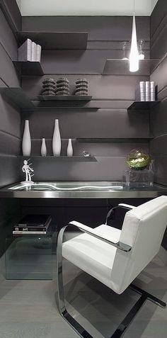 ♂ Contemporary interior design grey home office Tomas Pearce