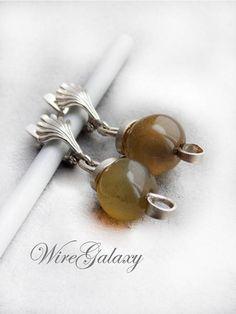 Apples Carnelian Earrings Wire wrapped Boho earrings Gift for