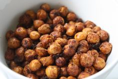 flavored chick peas. full of fiber and protien, snack size = 105 cal.