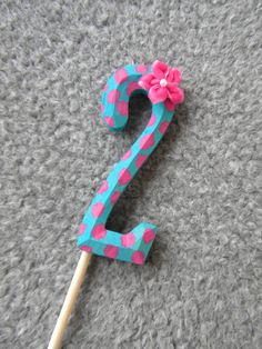 Wood Number + Dowel = Cake Topper