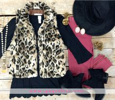 Snuggle Up in Style Faux Cheetah Fur Vest | $49.95