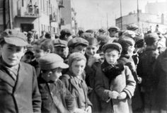 Lodz, Poland, 1940, Jewish children in a ghetto street. Sadly, almost all the children would be collected and placed on trains without parents to gas chambers at death camps