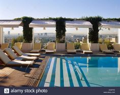 Image result for rooftop pool cabanas contemporary