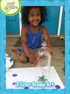 Recycle a 2-liter and create beautiful flower stamp art!