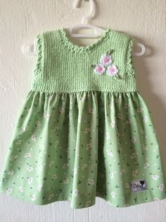 Hand knitted dress for baby girl