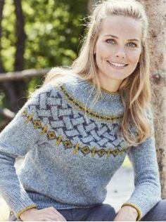 Pull Crochet, Knit Crochet, Free Crochet, Fair Isle Pullover, Icelandic Sweaters, Fair Isle Knitting, Free Knitting, Sweater Knitting Patterns, Knitting Sweaters