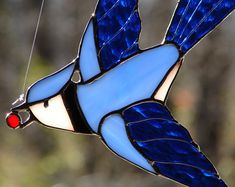 The Glass Menagerie - Hand Crafted Stained Glass by theglassmenagerie Stained Glass Angel, Stained Glass Ornaments, Stained Glass Birds, Stained Glass Christmas, Stained Glass Suncatchers, Stained Glass Designs, Stained Glass Projects, Stained Glass Patterns, Stained Glass Windows