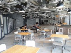 Office Free, Ceiling Detail, Coworking Space, Office Interiors, Pantry, Lounge, Restaurant, Flooring, Colour