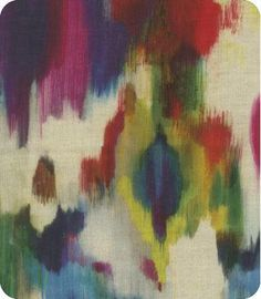 Mutli Color Abstract Curtain Panels / Custom designer drapery in Aurora Multi