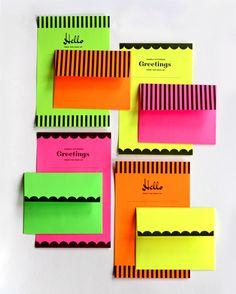 Neon Printable/Foldable Stationary Set