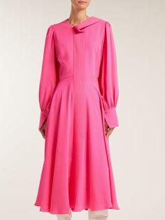 Adyn silk-georgette midi dress | Roksanda | MATCHESFASHION.COM UK Roksanda, Women Wear, Silk, Wedding, Shopping, Collection, Dresses, Valentines Day Weddings, Vestidos