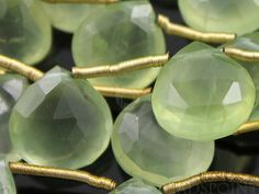 Natural ''NO TREATMENT'' Phrenite Faceted Heart Drops, AAA Quality Gemstones 8-9mm, 1Full Strand, (PREN8-9Hrt)