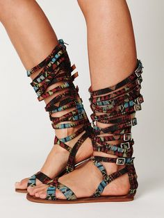 These sandals are soo awesome!! why do i have such high priced taste?! Free People Romana Fest Sandal, $158.00