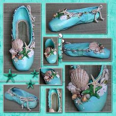 Under the sea pointe shoes. Definitely will have to do this someday!