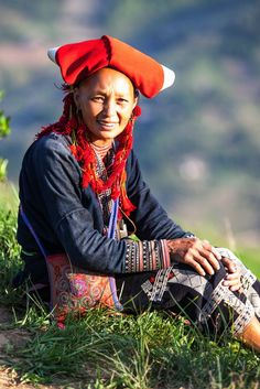 The smiling face of the lady in northern region of Vietnam