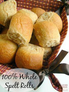 100% Whole Spelt Dinner Rolls