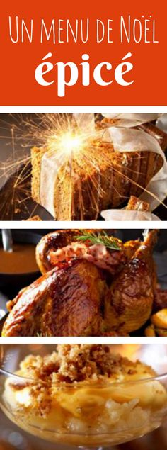3 courses for a spicy Christmas menu! Cuisine Diverse, French Christmas, Food Tags, Christmas Dishes, French Food, Let Them Eat Cake, Holiday Recipes, Food And Drink, Nouvel An