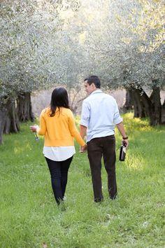 Engagement photos at Hidden Villa Preserve in Los Altos, CA