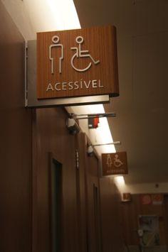 Wayfinding - Restroom sign - Shopping Contagem - Contagem (MG) - Brazil # Brazilian design