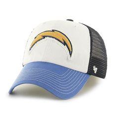 wholesale dealer 82d8a f930f ... new style los angeles chargers 47 brand tri tone privateer closer  flexfit slouch hat cap 094d9