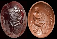 Buy online, view images and see past prices for A very fine roman garnet intaglio. Orpheus with animals. Invaluable is the world's largest marketplace for art, antiques, and collectibles. Ancient Egyptian Art, Ancient Aliens, Ancient Rome, Ancient Greece, European History, American History, 1st Century, Cameo Pendant, Anglo Saxon