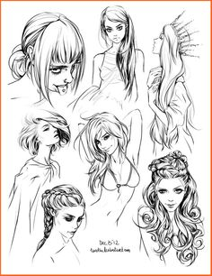 Faces/hair sketches