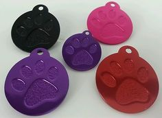 Personalized Paw Print Dog Pet ID Tag Light Weight Aluminum Free Engraving | eBay