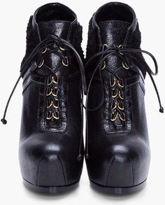 Yes Saint Laurent Black Tribtoo Shearling Ankle Boots