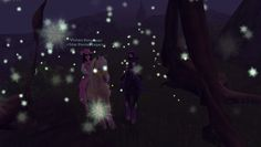 Vivien and I inside the magical tree. ^-^