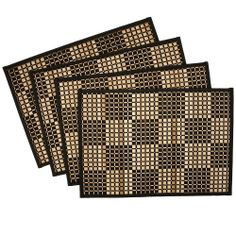 Benson Mills Checkerboard Bamboo Placemats, Black, Set of 4 by Benson Mills, http://www.amazon.com/dp/B004BDOOE0/ref=cm_sw_r_pi_dp_10o7qb1GAHCXW