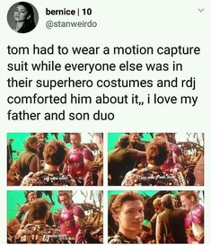 peter parker iron dad and spider son, RDJ and tom holland, tony stark and Peter Parker Funny Marvel Memes, Dc Memes, Marvel Jokes, Avengers Memes, Funny Memes, Marvel Fan, Marvel Avengers, Marvel Comics, Iron Man