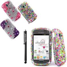 TopOnDeal TM Diamond Jewel Rhinestone Rainbow Colors Protective Phone Case Cover+Free Stylus Touch Pen For Samsung Galaxy Exhibit SGH-T599 T Mobile /MetroPCS Phone Accessory. (Rainbow Colors), http://www.amazon.com/dp/B00GR76IRY/ref=cm_sw_r_pi_awdm_OKS7sb1NVB4N5