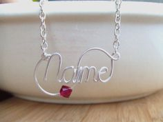 Personalized Necklace Wire Name with by deannewatsonjewelry